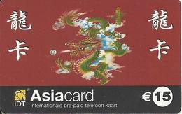 Netherlands: Prepaid IDT - Asia Card 01.07 - Niederlande
