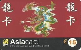 Netherlands: Prepaid IDT - Asia Card 11.04 - Niederlande