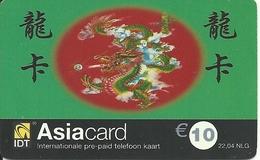 Netherlands: Prepaid IDT - Asia Card 12.03 - Niederlande