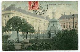 CPA - Carte Postale - Belgique - Bruxelles - Place Des Martyrs - 1909  (SV5948) - Places, Squares