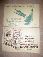 Lot 2 Buvards BAIGNOL & FARJON Les Beaux Coloriages - CRITERIUM & Sergent-Major D'ap. Jacquelin - Stationeries (flat Articles)