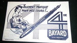 Buvard 4 De BAYARD Sans Reproche. Tampon Papeterie Paul BOULINIER PARIS Vème - Papierwaren