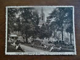 Postk . Bruinachtige Kleur           Bij De Ingangspoort Der  Abdij   AVERBODE  1935 - Hotels & Restaurants