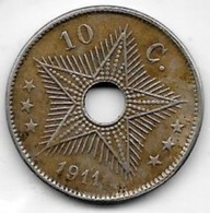 10 Centimes Congo-Belge 1911 - Congo (Belgian) & Ruanda-Urundi