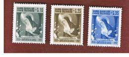 VATICANO (VATICAN) -  UNIF. 209.211 -  1956  5^ CENTENARIO S. RITA DA CASCIA (SERIE COMPLETA DI 3)   -  MINT** - Vaticano (Ciudad Del)