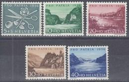 SCHWEIZ  627-631, Postfrisch **, Pro Patria: Seen Und Wasserläufe 1956 - Ongebruikt
