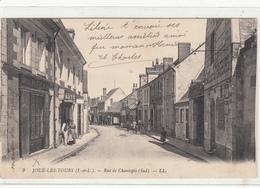 CPA- JOUE-LES-TOURS- Rue De Chantepie (sud) -animée Magasins Auto- Dép37- 2scans - Frankrijk