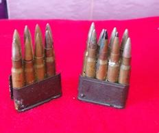 DEUX CHARGEURS FUSIL GARAND USM1 WW2 OU  APRES GUERRE - Armes Neutralisées