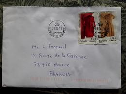 Carta Santa Coloma De Gramenet,Espana / Lettre MODA ESPANOLA Mode Robe Fashion, Museo Del Traje,paire Se Tenant 2018 Tb - Textile
