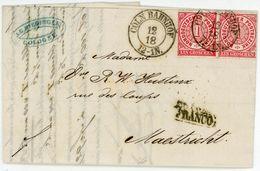 """Nr. 4 Paar Auslandsbrief Aus """"CÖLN BAHNHOF"""" Nach Holland 1868 - Rechnung - Norddeutscher Postbezirk (Confederazione Germ. Del Nord)"""