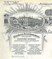 Facture 1932 / 63 CLERMONT-FERRAND / Vêtements Ecclésiastiques Clergé Communautés Religieuses / BERTHOLON-BARTHOMEUF - 1900 – 1949