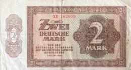 Germany East 2 Deutsche Mark, SBZ-12c/Ro.341c (1948) - Fine - [ 6] 1949-1990: DDR - Duitse Dem. Rep.