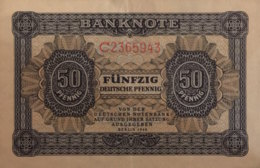 Germany East 50 Deutsche Pfennig, DDR-1a/Ro.339d (1948) - EF/XF - [ 6] 1949-1990 : RDA - Rep. Dem. Alemana