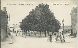 Montreuil-sous-bois (93) - Place Carnot - Animé - Bicyclette - Montreuil