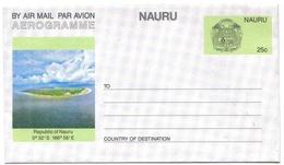 Nauru Aérogramme 25 Cts Aerogram Air Letter Entier Entero Ganzsache Lettre Carta Belege Airmail Cover - Nauru