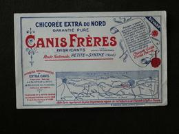 BUVARD  BLOTTER. Pub.CHICOREE  CANIS Frères. PETITE-SYNTHE. Carte Du Littoral. Gravelines. Oye. Loon. Calais. Mardyck. - Ohne Zuordnung