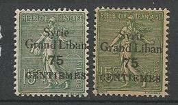SYRIE  N° 91 Papier Normal Et GC NEUF*  TRACE DE CHARNIERE TB / MH - Syrien (1919-1945)