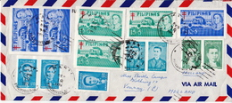 Postal History Cover: Philippines 1974 Cover With Famous People Perforated And Imperforated Stamps - Philippines