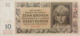 Germany WWII 10 Kronen, ZWK-14b/Ro.562b (1942) - UNC - Specimen - [ 9] Duitse Bezette Gebieden