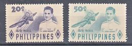 Filippine Philippines Philippinen Filipinas 1955 Lieutenant Jose Gozar Air Mail Complete Set, Toned Gum - MNH** - Filippine