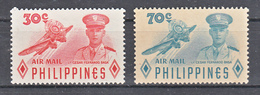 Filippine Philippines Philippinen Filipinas 1955 Lieutenant Cesar Basa Air Mail Complete Set, Toned Gum - MNH** - Filippine
