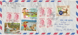 Postal History Cover: Philippines Cover With Several Stamps And Tuorism Full Set - Philippines