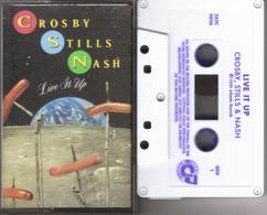 K7 - CROSBY STILLS NASH - LIVE IT UP - Cassettes Audio