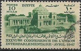 EGYPT 1947 36th International Parliamentary Union Conference, Cairo - 10m Egyptian Parliament Buildings FU - Egypt