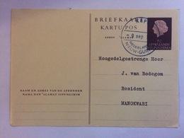 NETHERLANDS NEW GUINEA - Postcard Rare Kepi Postmark To Manokwari - Niederländisch-Neuguinea