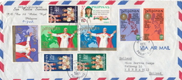 Postal History Cover: Philippines Cover With Several Stamps And Full Sets - Philippines