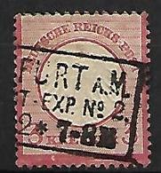ALLEMAGNE    -     1872  .  Y&T N° 9 Oblitéré.   Cote 18 Euros - Germania
