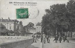 12, Aveyron, VILLEFRANCHE DE ROUERGUE, Palais De Justice Et Sous-Préfecture, Scan Recto-verso - Villefranche De Rouergue