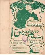 CAF CONC DICKSON PARTITION ÉTERNELLE FOLIE PIERRE D'AMOR NAZARE-AGA 1901 ILL MIGNOT - Music & Instruments