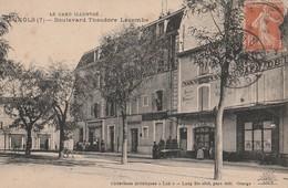 CPA 30 BAGNOLS SUR CEZE  BOULEVARD LACOMBE T. GARD ILLUSTRE - Bagnols-sur-Cèze