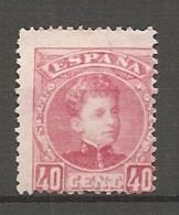 1901 - Yv. N° 221   (*)  40c  Rose Alphonse XIII Cote 280 Euro   BE    2 Scans - Ungebraucht