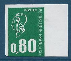 FRANCE 1976 - NON DENTELE - Y.T. N°1891 A - 80 C. Vert - Type Marianne De Béquet - NEUF** - TB Etat - France