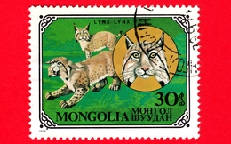 MONGOLIA - Usato - 1979 - Gatti Selvatici - Eurasian Lynx (Lynx Lynx) - 30 - Mongolia