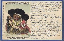 CPA Ethiopie Ethiopia Abyssinie Ethnic Afrique Noire Ménélick II Satirique Caricature Par Léandre Circulé - Ethiopia