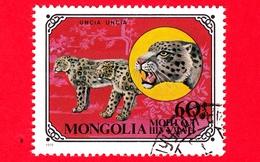 MONGOLIA - Usato - 1979 - Gatti Selvatici - Snow Leopard (Panthera Uncia) - 60 - Mongolia