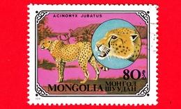 MONGOLIA - Usato - 1979 - Gatti Selvatici - Cheetah (Acinonyx Jubatus) - 80 - Mongolia