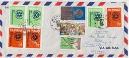 Postal History Cover: Philippines Cover With Full Perforated And Imperforated Sets - Philippines