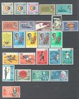 GHANA - 1964 - MNH/** - YEAR 1964 - Yv BLOC 10-13 156-180  - Lot 17897 - Ghana (1957-...)