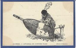 CPA Zambie Afrique Noire Satirique Caricature Zamzèbe LEWANIKA Roi King Non Circulé - Zambia