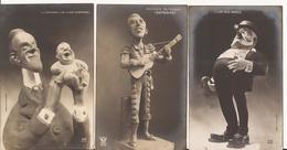 9571. LOT DE 5 CPA ILLUSTRATEUR CARICATURISTE ESPAGNOL CESAR GIRIS SATIRIQUE HOMMES POLITIQUES - 1900-1949
