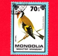 MONGOLIA - Usato - 1979 - Uccelli - Cardellino - European Goldfinch (Carduelis Carduelis) - 70 P. Aerea - Mongolia