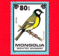 MONGOLIA - Usato - 1979 - Uccelli - Cinciallegra - Great Tit (Parus Major) - 80 P. Aerea - Mongolia