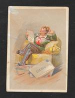 Chromo Liebig S10 Figure Genere 2° C-in Poltrona Legge Lettera 1872 - Liebig