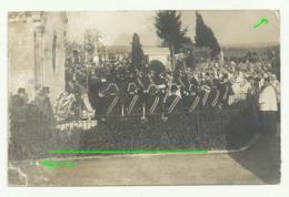 BONNETABLE Carte Photo  2 Obsèques De M. Le Vicomte De La Rochefoucault Famille Drapeau Fanfare Bonnetable Voilé - Bonnetable