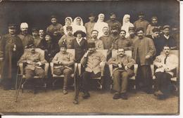 9572. CPA PHOTO WW1 HOPITAL MILITAIRE BLESSES DE GUERRE. A SITUER - Guerre 1914-18