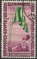 EGYPT 1947 Withdrawal Of British Troops From Nile Delta - 10m King Farouk Hoisting Flag FU - Egypt